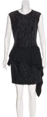 Louis Vuitton Embellished Wool Dress