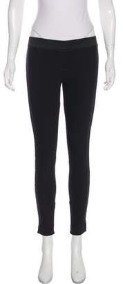 Stella McCartney Mid-Rise Lace-Trimmed Leggings