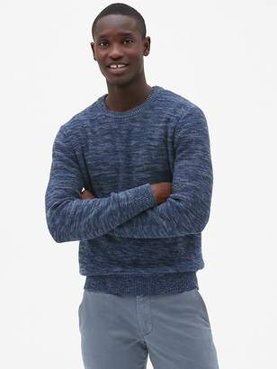 Gap Textured Marled Crewneck Pullover Sweater