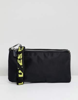 Diesel Crossbody Bag with Logo Chain Strap