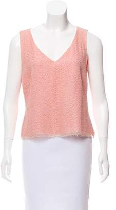 Akris Sleeveless V-Neck Top
