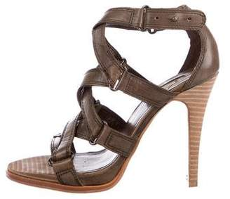Max Studio Leather Crossover Sandals