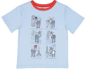 Andy & Evan Short-Sleeve Zebra Tourist T-Shirt, Size 3-24 Months