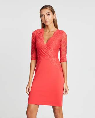 Dorothy Perkins Long Sleeve Lace Top Bodycon Dress