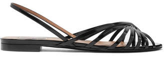 Tabitha Simmons Noel Glossed-leather Sandals - Black