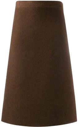 Salvatore Ferragamo Pre-Owned 1970's knee-length A-line skirt