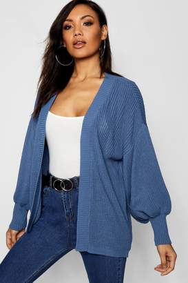 boohoo Balloon Sleeve Cardigan