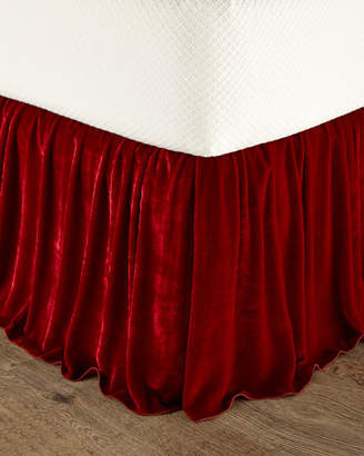 Dian Austin Couture Home Queen Bohemian Rhapsody Panne Velvet Dust Skirt