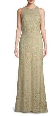 Tadashi Shoji Sequined Sleeveless Gown
