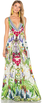 Camilla Tiered Gathered Dress in Green $850 thestylecure.com
