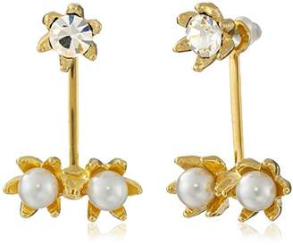 Yochi Pearl Pop Ear Jack Earrings