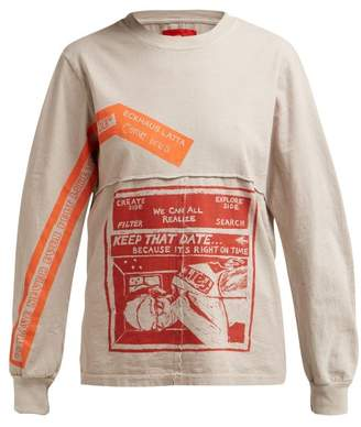 Eckhaus Latta X Come Tees Lapped Baby Cotton T Shirt - Womens - Grey Multi