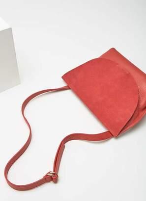 Mint Velvet Lillia Red Saddle Bag