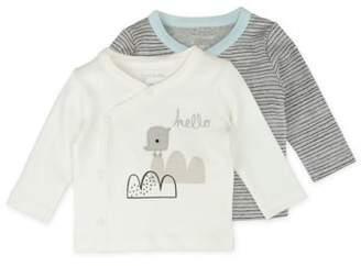 M·A·C Mac & Moon Long Sleeve Kimono Wrap Tops, 2-pack (Baby Boys or Baby Girls Unisex)
