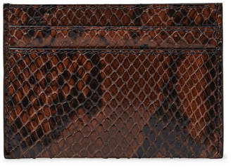 Dries Van Noten Snake-Effect Leather Cardholder