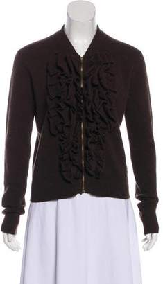 Lanvin Wool-Blend Zip-Up Cardigan w/ Tags