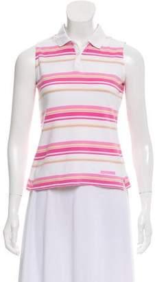 Burberry Golf Sleeveless Striped Top