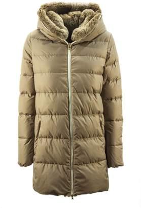 Duvetica Carys Beige Shiny Nylon Down Jacket.