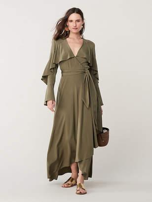 Diane von Furstenberg Alice Silk High-Low Wrap Dress