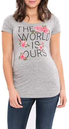 Great Expectations Maternity Short Sleeve Tee with Side Ruching