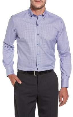 David Donahue Microcheck Sport Shirt