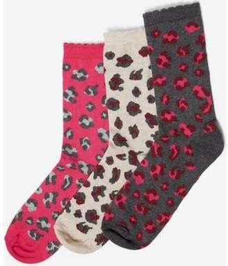 Dorothy Perkins Womens 3 Pack Multi Colour Leopard Socks