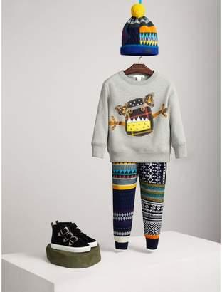 Burberry Creature Motif Cotton Jersey Sweatshirt