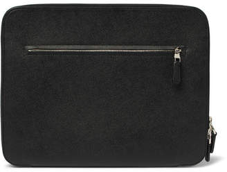 Dunhill Cadogan Full-Grain Leather Zip-Around Pouch - Black