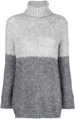 Blugirl two tone turtle neck sweater