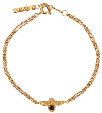 Olivia Burton Bejewelled Bee 18ct Gold-plated Bracelet