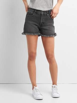 """Gap High Rise 3"""" Denim Shorts with Raw Hem"""
