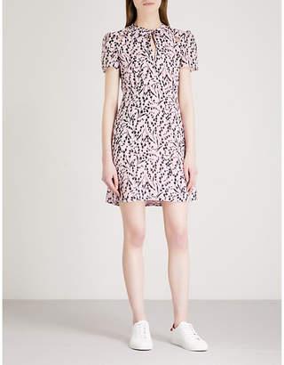 Maje Rambao floral-print silk-crepe dress
