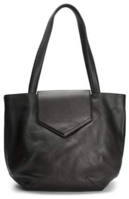 WtR - Sculpture Black Leather Tote Bag