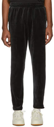 adidas Black Velour Cozy Lounge Pants