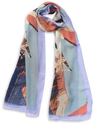 Vince Camuto Colour Wash Silk Long Scarf