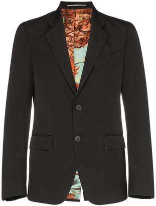 Givenchy lined button up blazer jacket