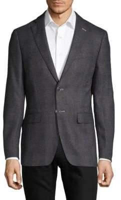 Plaid Notch Lapel Sportcoat