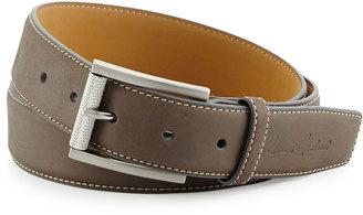 Robert Graham Lewis Suede Belt, Gray $55 thestylecure.com