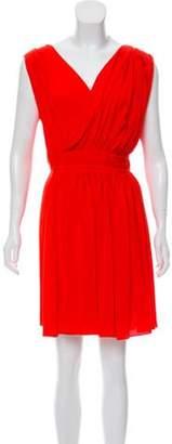 Vionnet Silk Sleeveless Dress w/ Tags Red Silk Sleeveless Dress w/ Tags