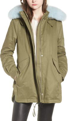d94abfbd8a41 Derek Lam 10 Crosby Genuine Fox Fur Trim Cotton Blend Parka
