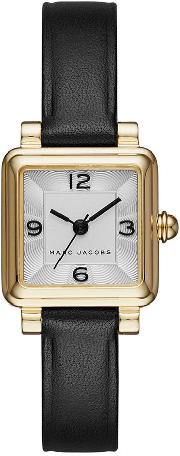 Marc Jacobs Marc Jacobs Women's Black Leather Square 20x20mm MJ1545