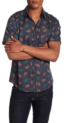 Public Opinion Short Sleeve Citrus Print Regular Fit Woven Shirt