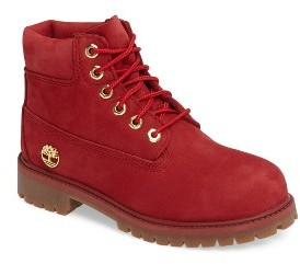 Boy's Timberland 40Th Anniversary Ruby Red Waterproof Boot $84.95 thestylecure.com