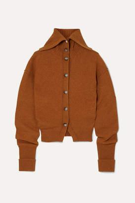 Chloé Ruched Wool-blend Cardigan - Orange