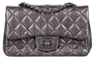 Pre Owned At Therealreal Chanel Perforated Classic New Mini Single Flap Bag