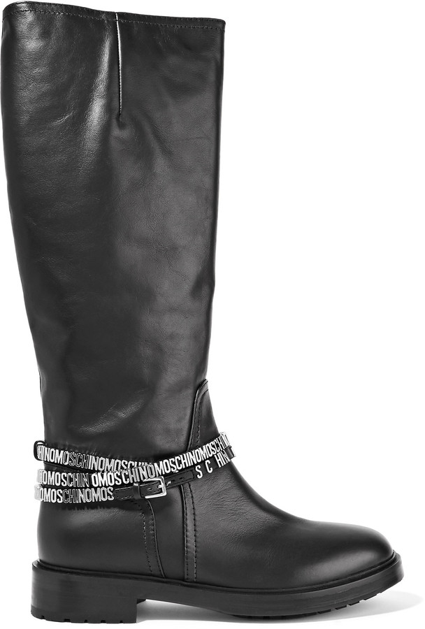 Moschino Moschino Embellished leather boots