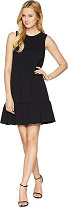 Adrianna Papell Women's Knit Crepe Dropped Waist Shift Dress