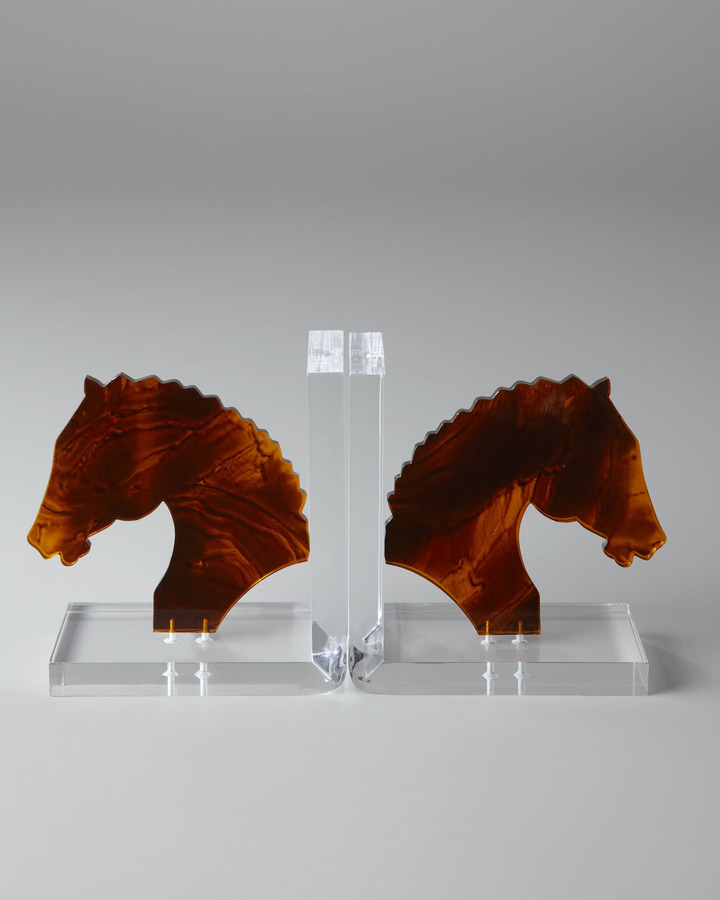 Horchow Horse Head Bookends