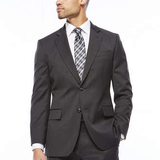 STAFFORD Stafford Travel Charcoal Classic Fit Stretch Suit Jacket