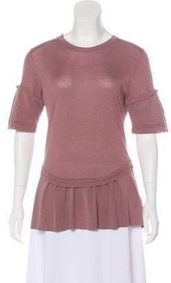 Burberry Silk-Blend Short Sleeve Top